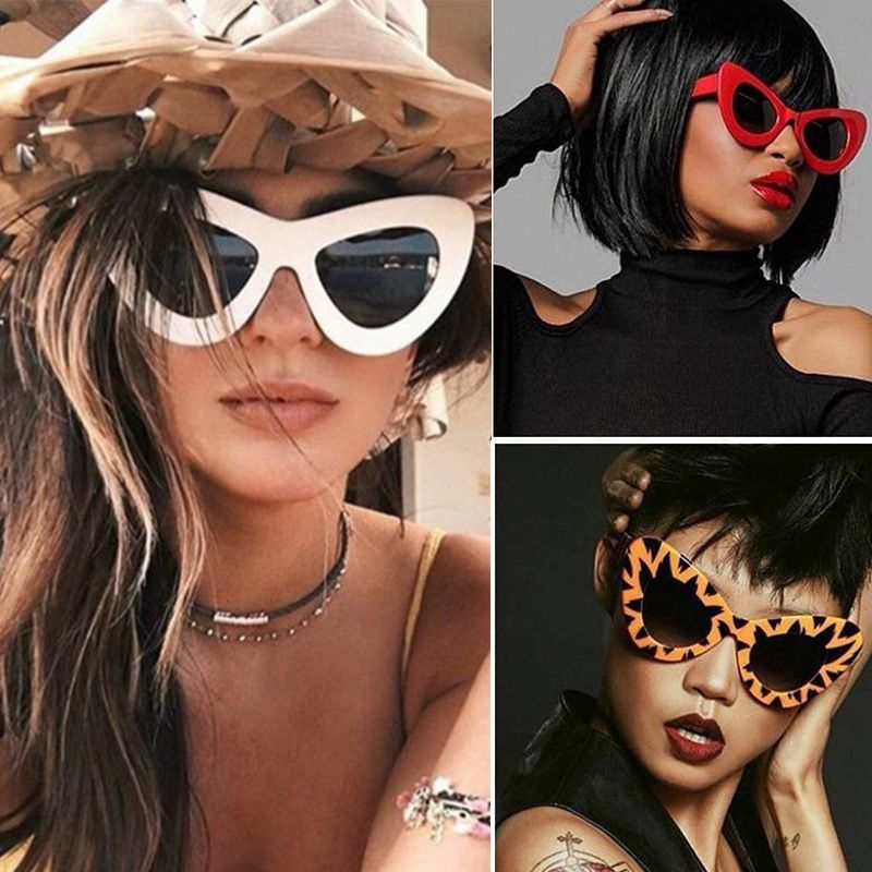 Swagger Creative Vintage Cat's Eye Shaped Street Snap Sunglasses for Outdoor Beach Sold by ZXG
