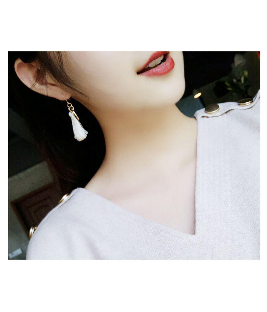 Fashion Jewelry 925 Sterling Silver Plated  Hoop Dangle Earring Stud Drop Earring Gifts