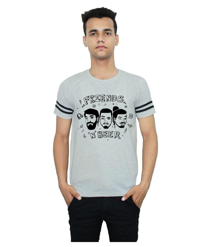 TheShopor Grey Half Sleeve T-Shirt Pack of 1