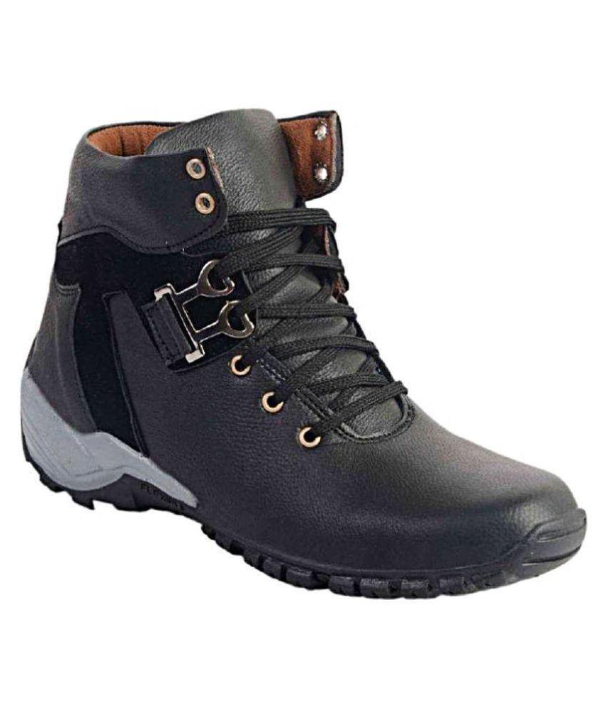 sngm Black Casual Boot