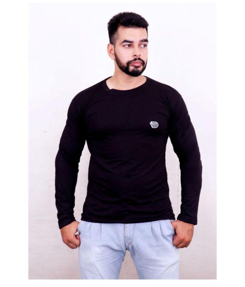 DIZI Black Full Sleeve T-Shirt