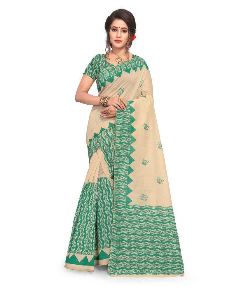S. Kiran's Multicoloured Cotton Blend Saree