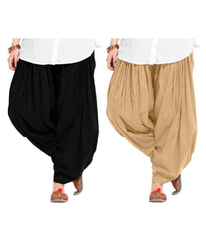 Fashion Guru Trading Co. Cotton Single Semi Patiala Salwar