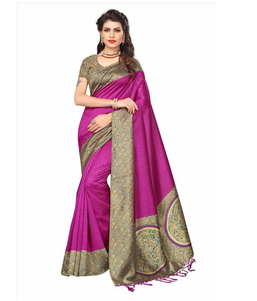 Aika Pink Tussar Silk Saree