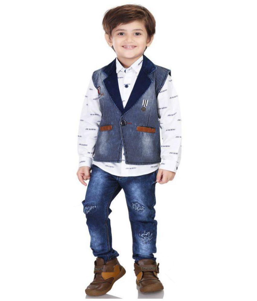 3fcf50a11d Kooka Kids Boys Suit With Full Sleeves Shirt