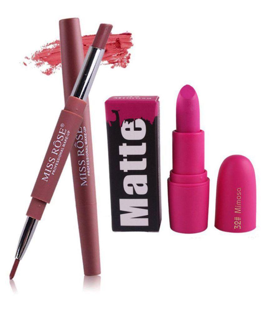 Miss Rose Creme Lipstick 2in1-01 + Bullet32 - 3 gm
