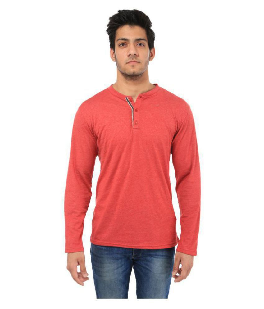 Five-Stones Red Full Sleeve T-Shirt