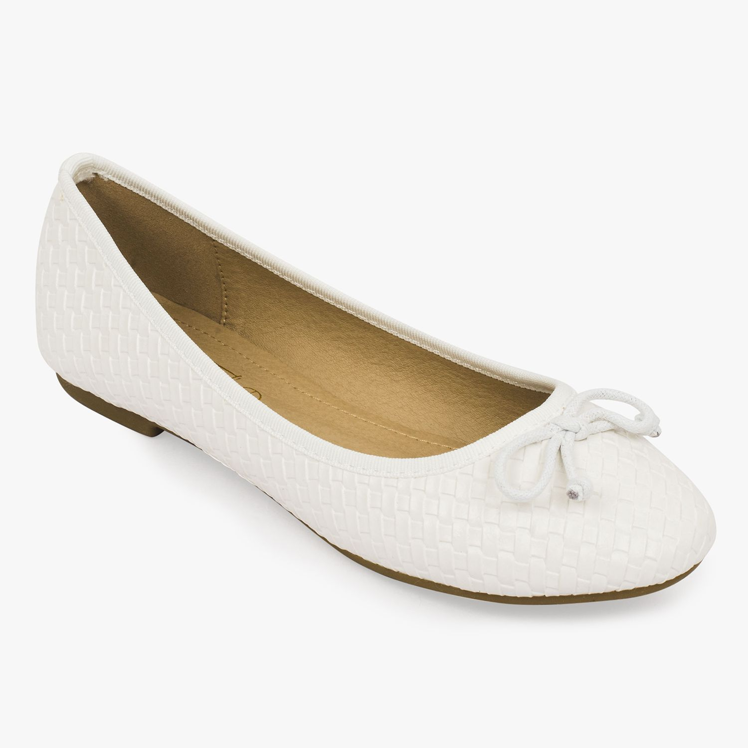 hot sale online a26bb 60f0f Truffle Collection White Ballerinas