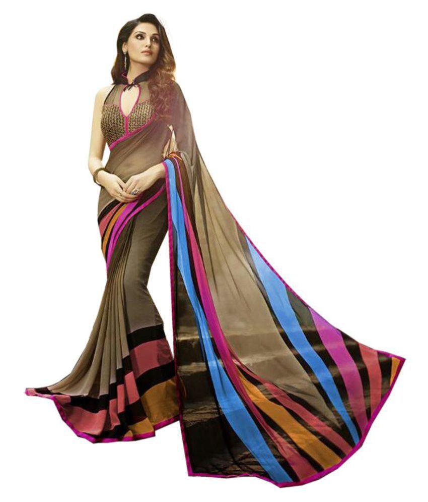 Wedding Silk Saris Multicoloured Georgette Saree