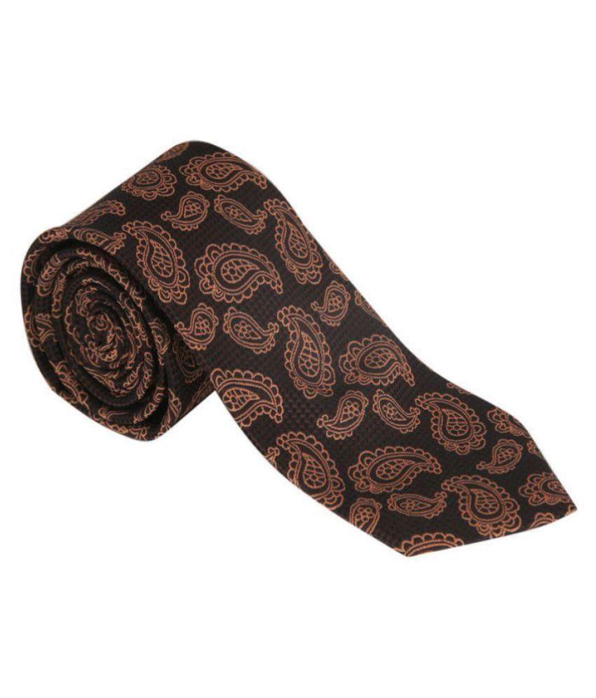 Addons Maroon Paisley Micro Fiber Necktie