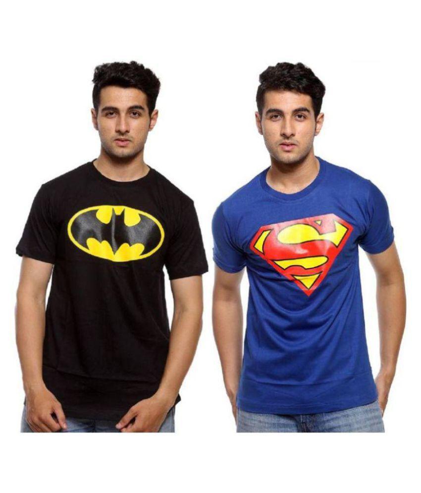 T-Shirt Multi Half Sleeve T-Shirt Pack of 2