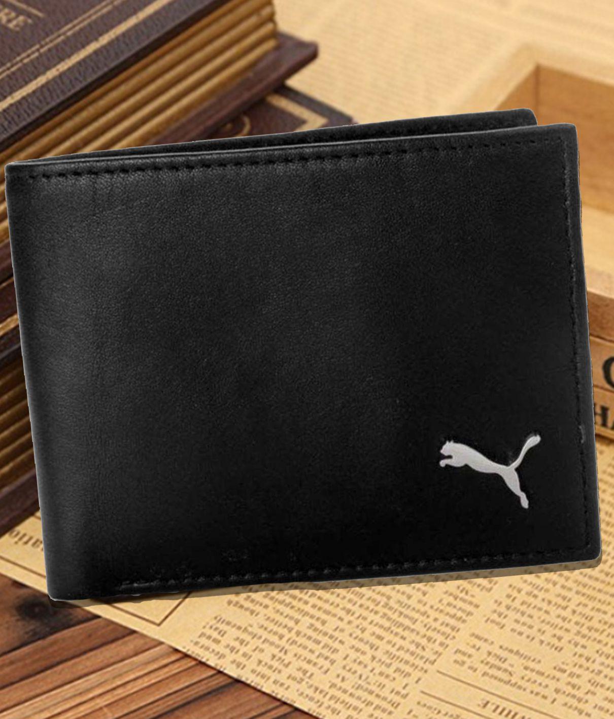 Puma F1 Leather Black Formal Regular Wallet