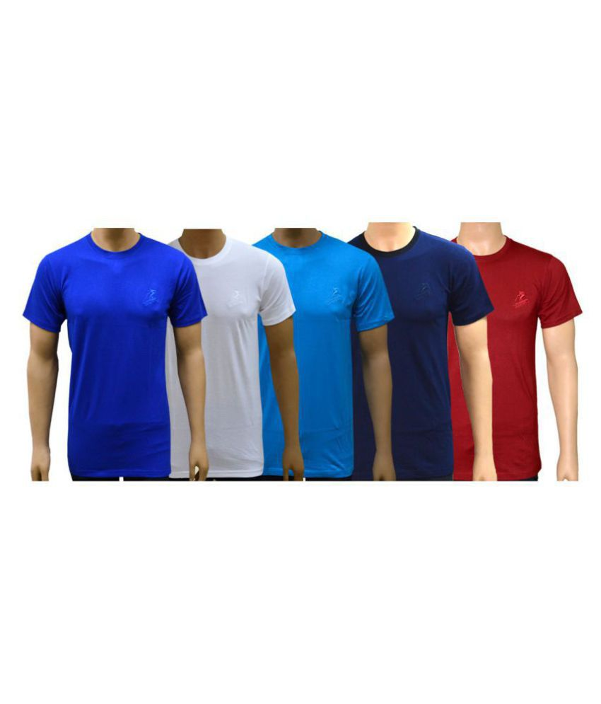 Lyril Multi Cotton T-Shirt Pack of 5