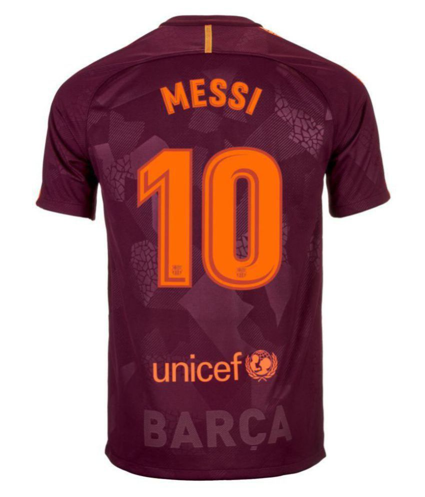 new style 148fa f135b Messi Barcelona Maroon 2017/18 Stadium Third Replica Jersey (only jersey)
