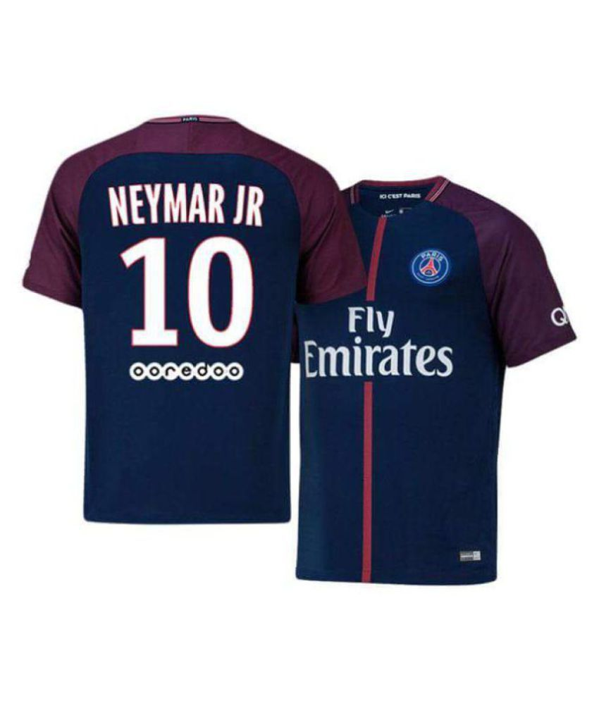 7c239584c NEYMAR-10 MENS HOME FOOTBALL JERSEY 2017-2018 (ONLY JERSEY)  Buy Online at Best  Price on Snapdeal