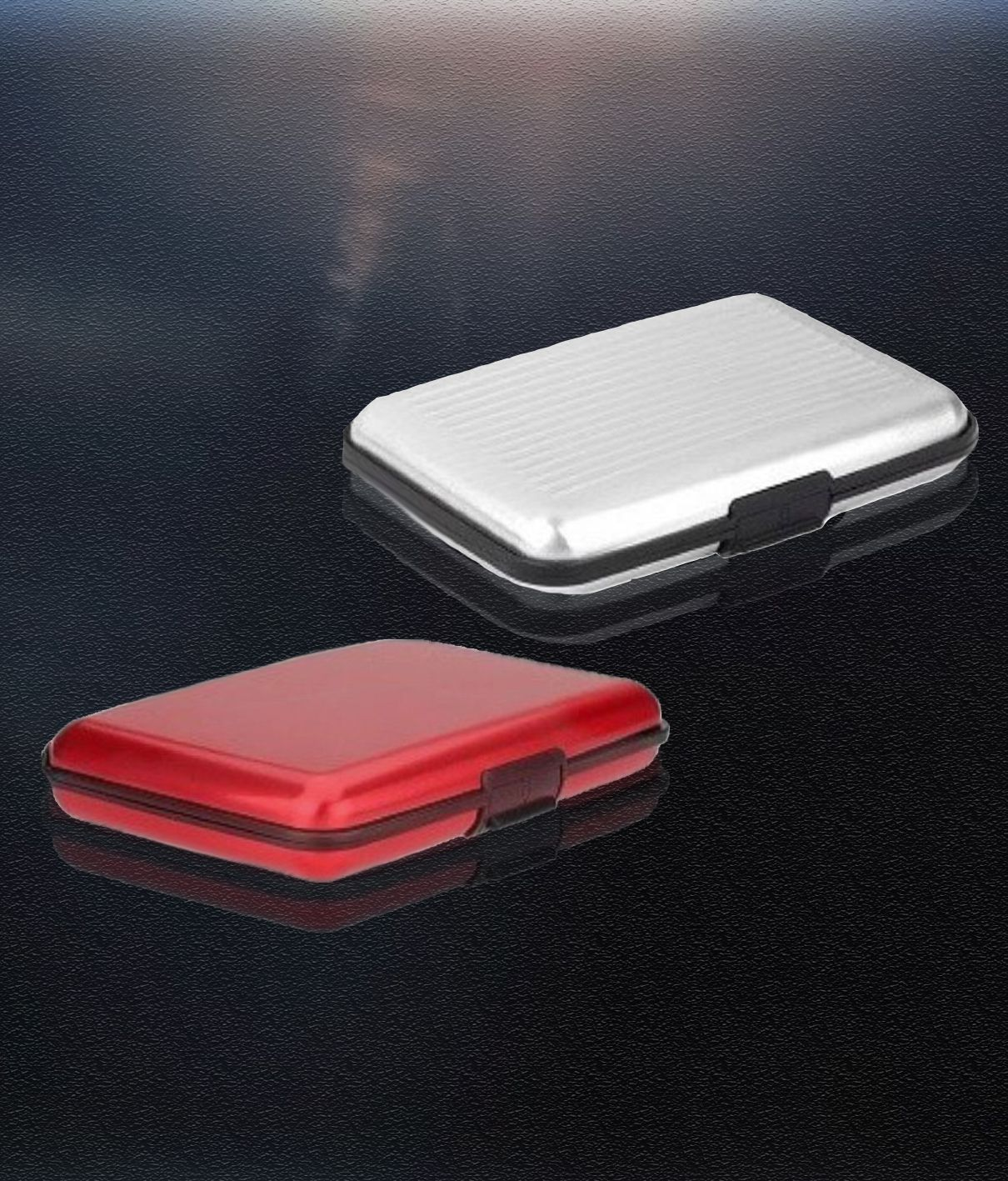 Atm card holder aluminum metal case box hard case holder business atm card holder aluminum metal case box hard case holder business card id wallet reheart Gallery