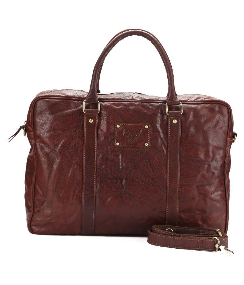 Koza Brown Pure Leather Shoulder Bag