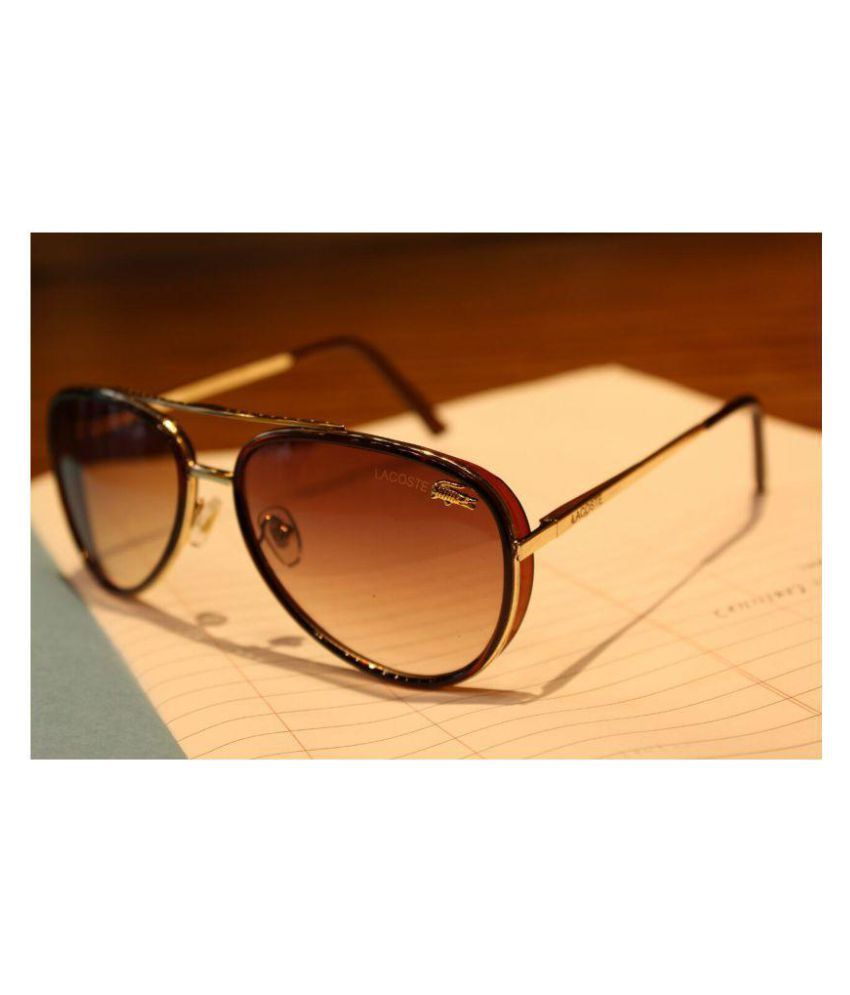 b52132355128 LACOSTE SUNGLSS Brown Aviator Sunglasses ( L178 ) - Buy LACOSTE SUNGLSS  Brown Aviator Sunglasses ( L178 ) Online at Low Price - Snapdeal