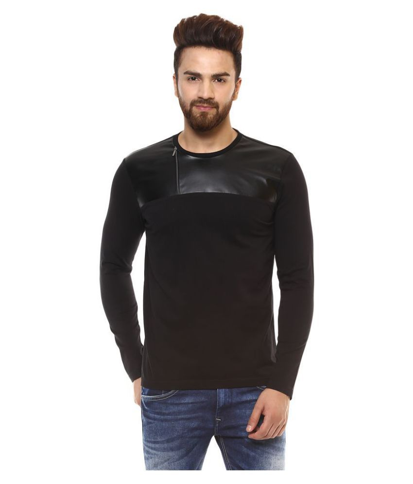 Mufti Black Full Sleeve T-Shirt
