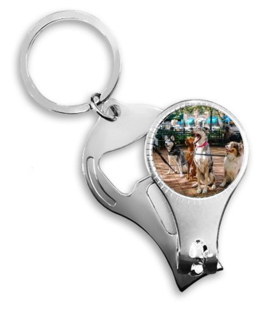 Handsome Dogs Pet Animal Picture Nail Clipper Ring Key Chain