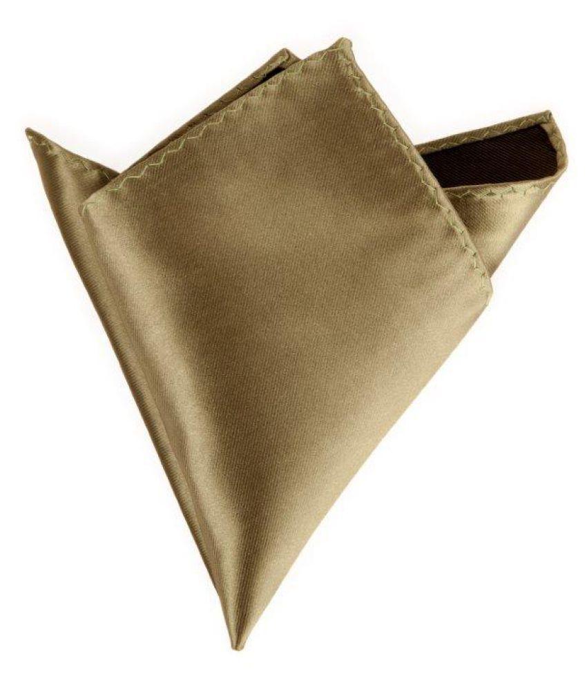 Plain Pista green Silk Pocket Square