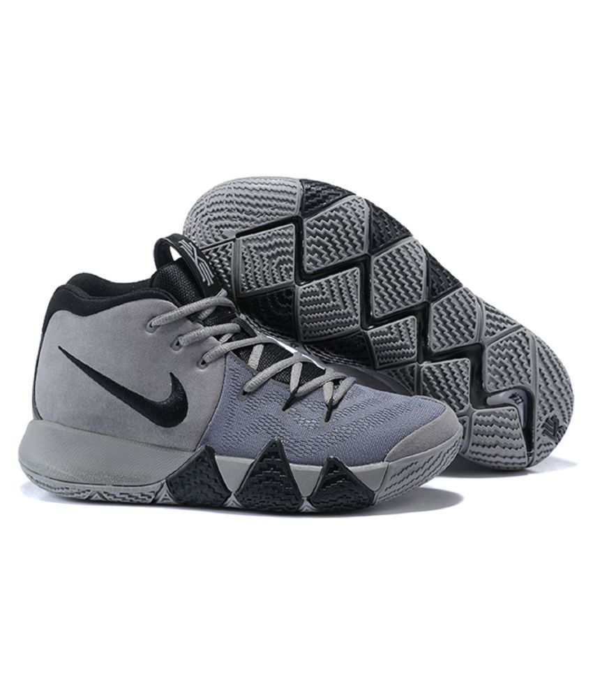 reputable site e8ae0 b38a5 Nike Kyrie 4 Gray Basketball Shoes