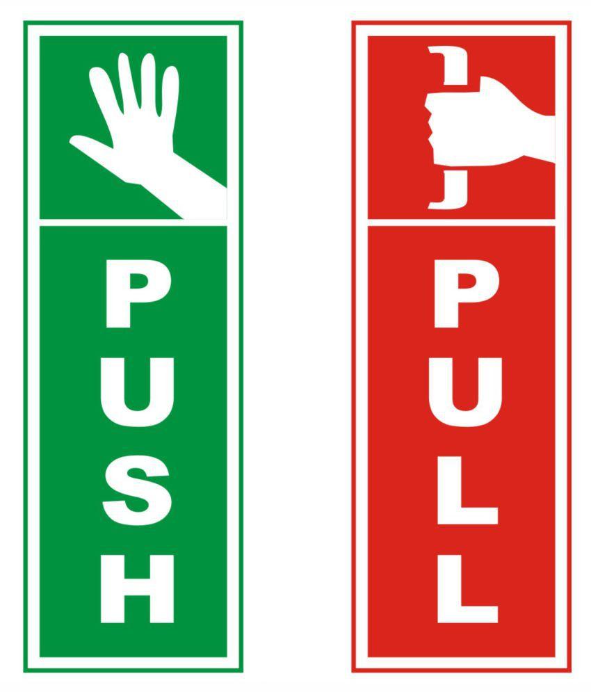 tausif creation new push pull sign laminated glossy doors sticker