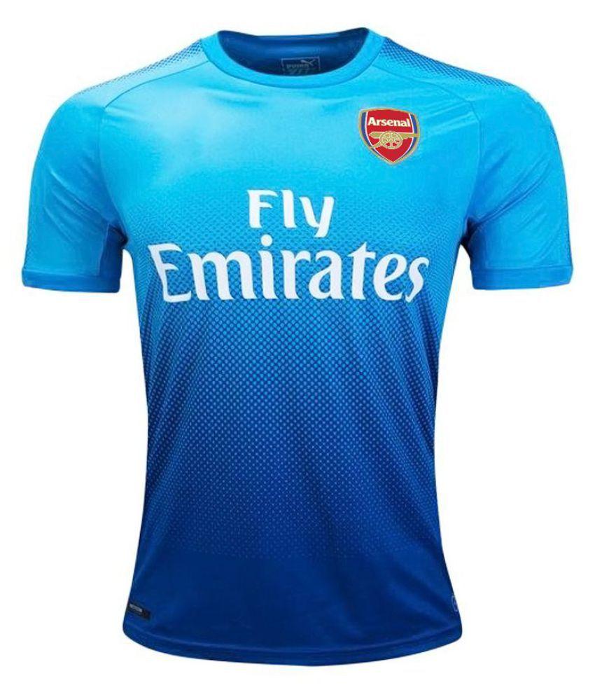 pretty nice bdaaa 09b45 Arsenal Blue Polyester Jersey