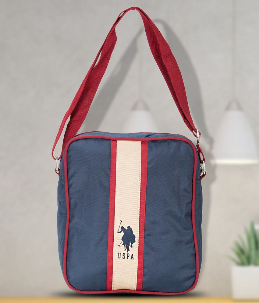 bda5af489f69 U.S. Polo Assn. Blue Nylon Casual Messenger Bag - Buy U.S. Polo Assn. Blue  Nylon Casual Messenger Bag Online at Low Price - Snapdeal