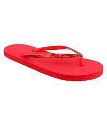 Radhika Red Slippers