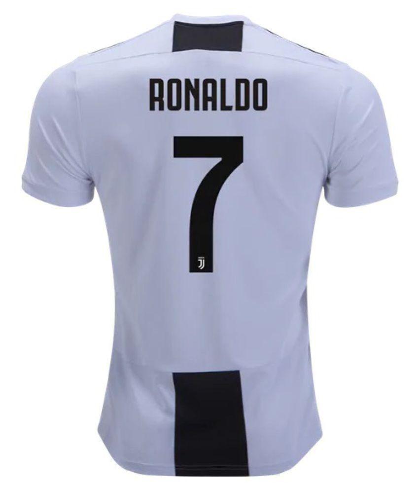 pretty nice da1e4 c9c6c Juventus Ronaldo Home Football Jersey Black & White 18/19 (ONLY JERSEY)