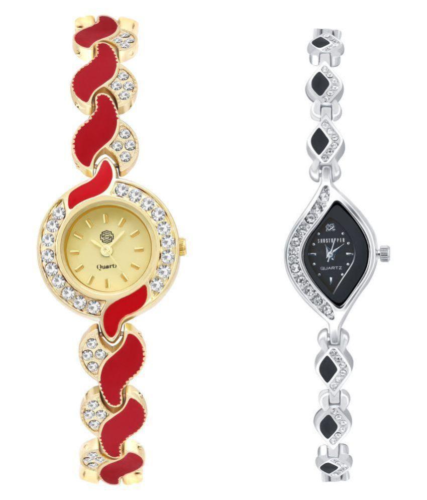 Shostopper Metal Oval Womens Watch + Free Pair of Earrings of Worth INR.199/-