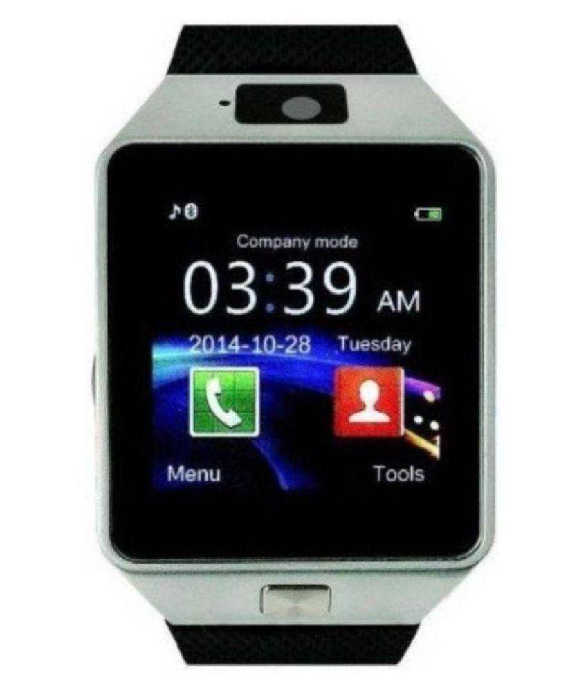 Gazzet Oppo ,Vivo & Mi 4G Calling Wrist Watch DZ09 Silver Wearable Smart Devices