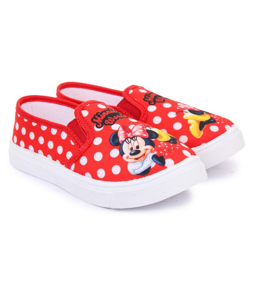 MICKEY MINNIE RED CANVAS SHOE