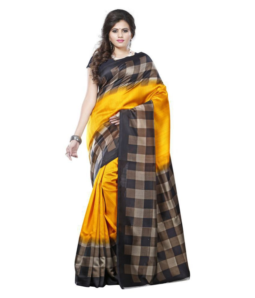 NEMI AGENCY Yellow Mysore Silk Saree
