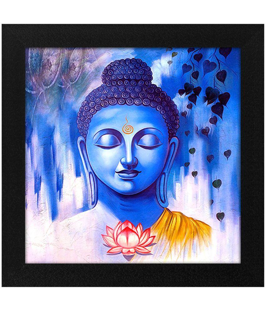 Story@Home Buddha Wood Art Prints With Frame