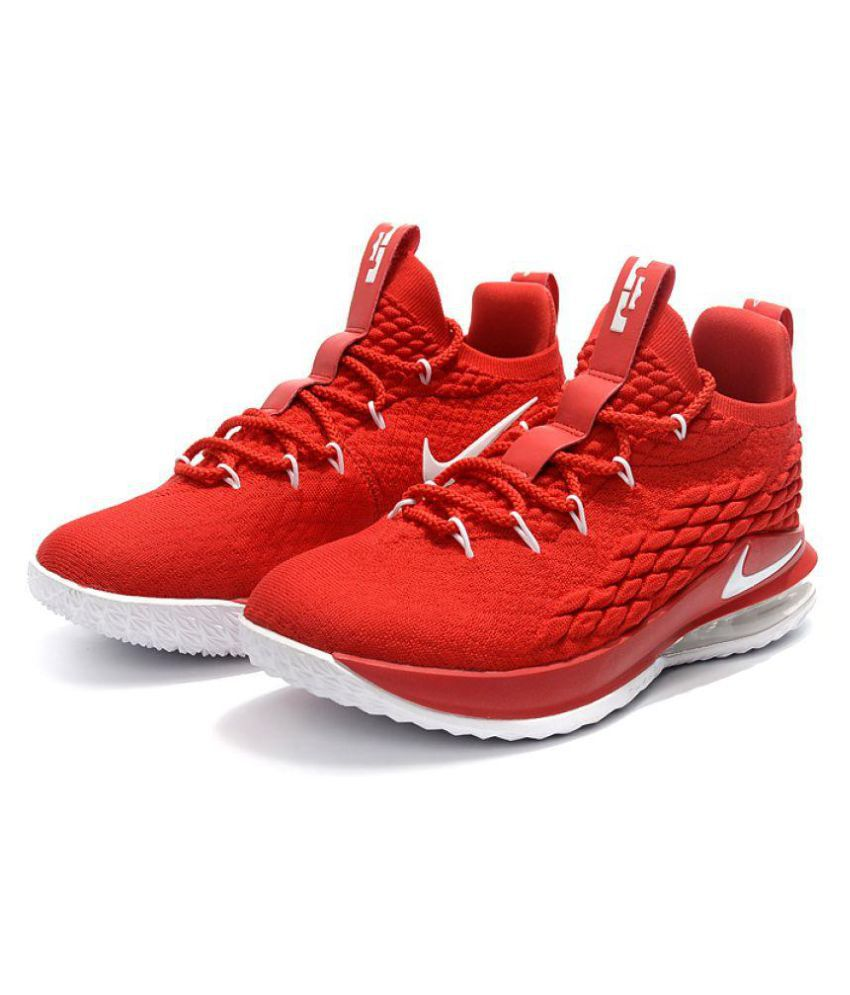8145d46698b Nike LeBron 15 LOW Red Basketball Shoes - Buy Nike LeBron 15 LOW Red Basketball  Shoes Online at Best Prices in India on Snapdeal