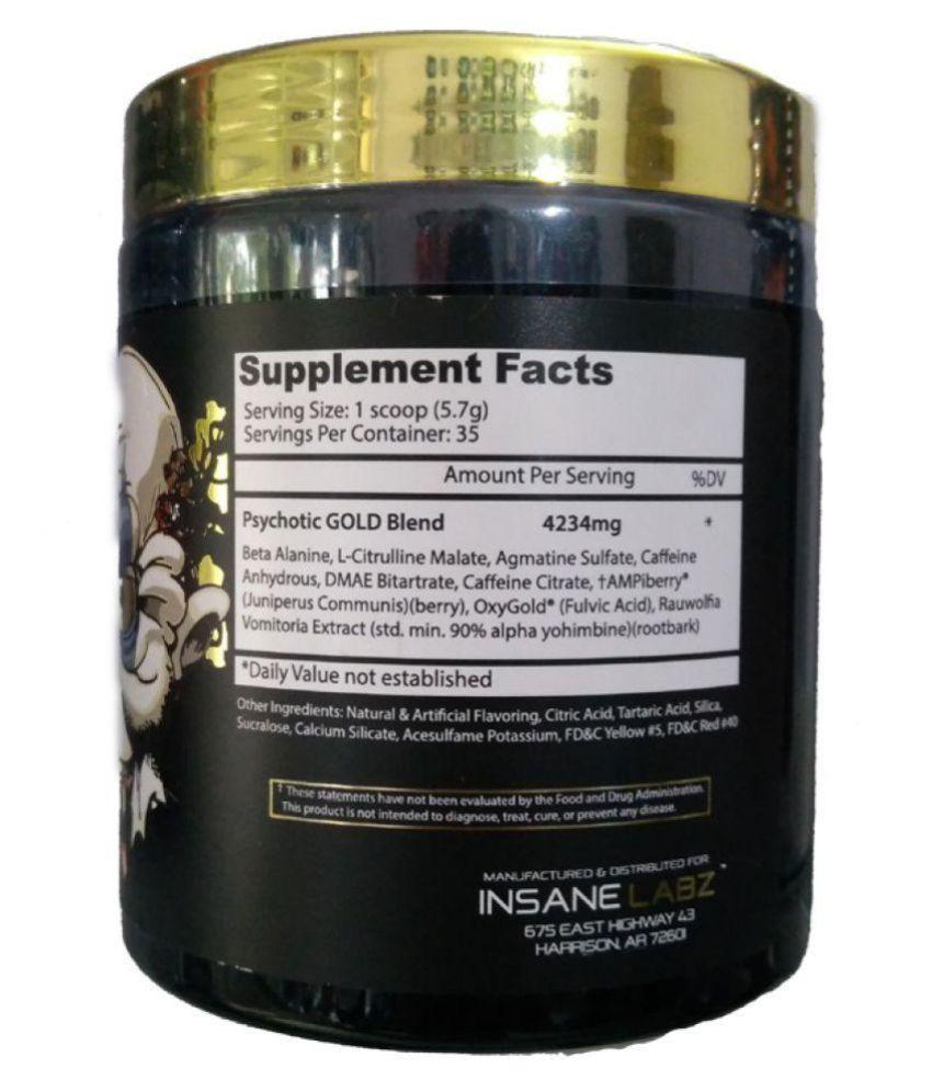 Insane Labz Psychotic Gold Pre Workout Gummy Candy 202 Gm Buy