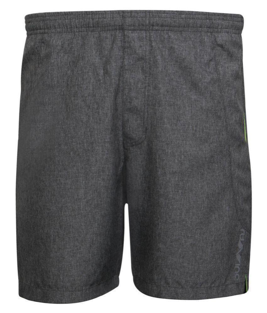 Nivia Dark Grey Polyester Running Shorts-2312L02