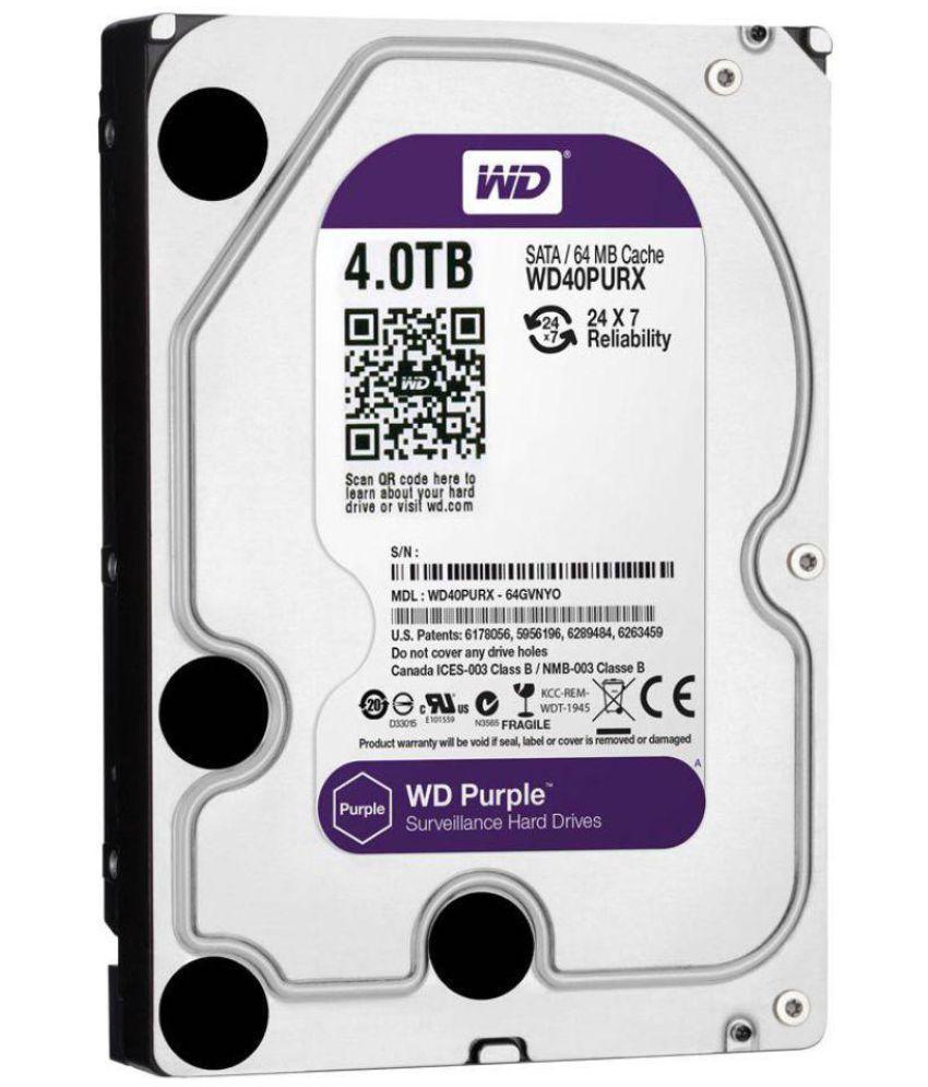 WD WD40PURZ 4 TB Internal Hard Drive Internal Hard drive