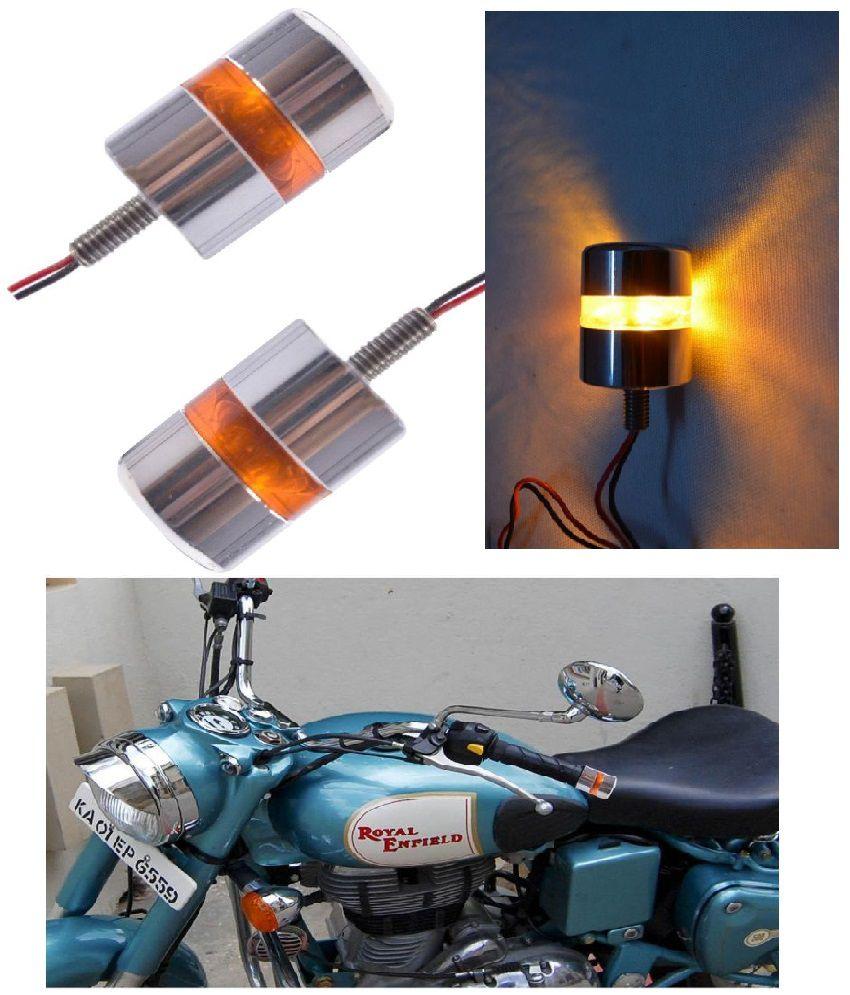 R.J.VON - Motorcycle Handlebar Turn Signal Grip Bar End LED Plug Strobe Side Indicator light