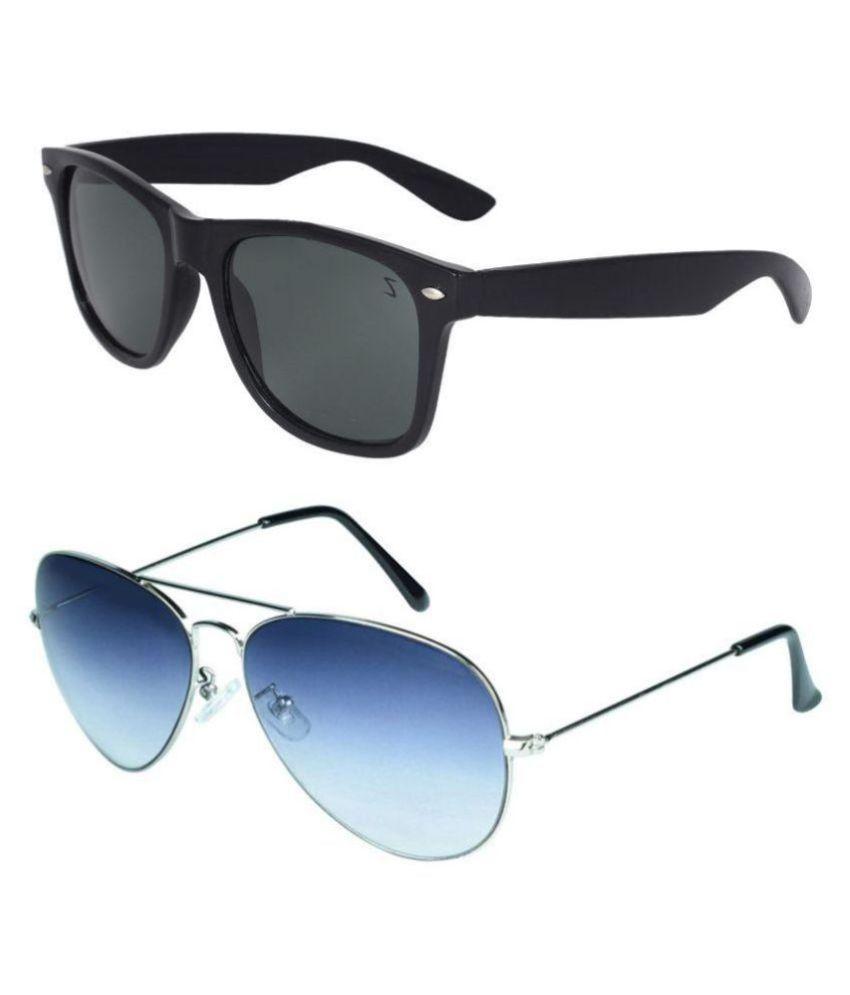 Zyaden - Multicolor Pilot Sunglasses ( Com-40 )
