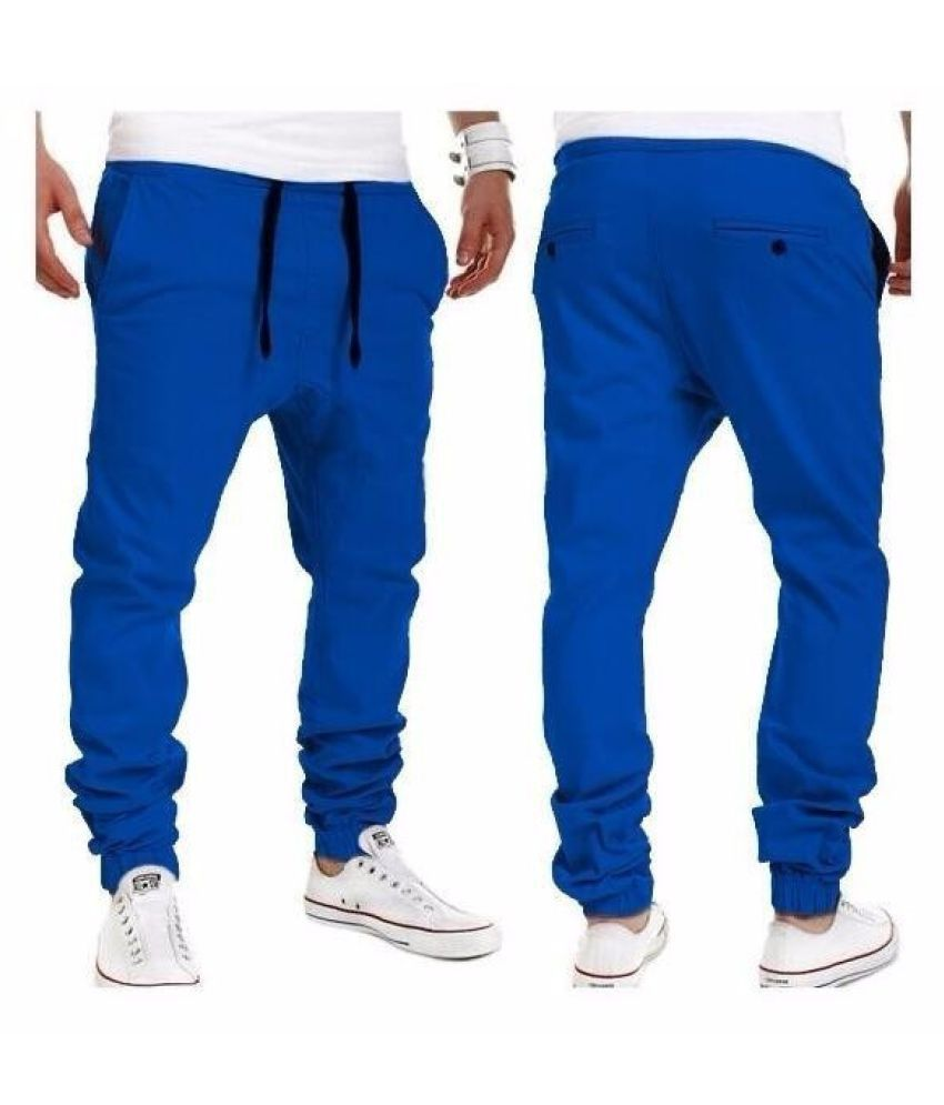 Changing Destiny Blue Tapered -Fit Flat Trousers