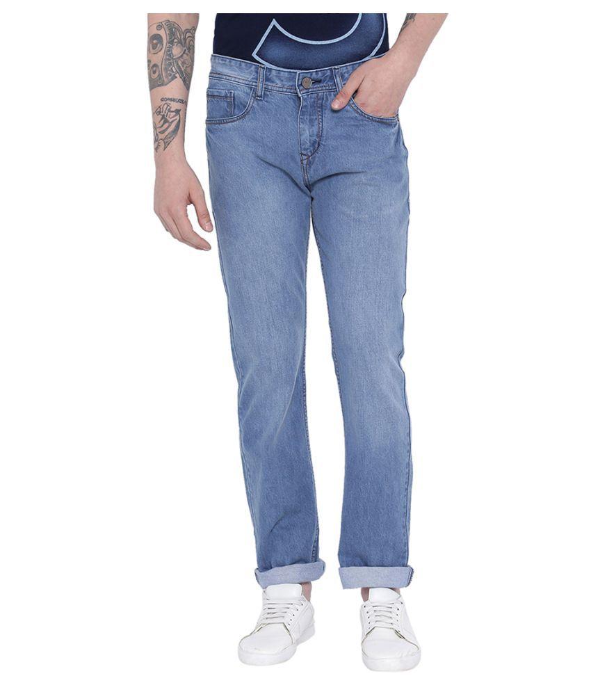 Fever Light Blue Straight Jeans