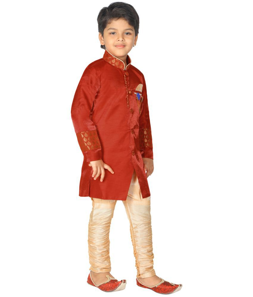 bf5943a7bf Ahhaaaa Kids Ethnic Wear Sherwani and Breaches Set For Boys - Buy ...