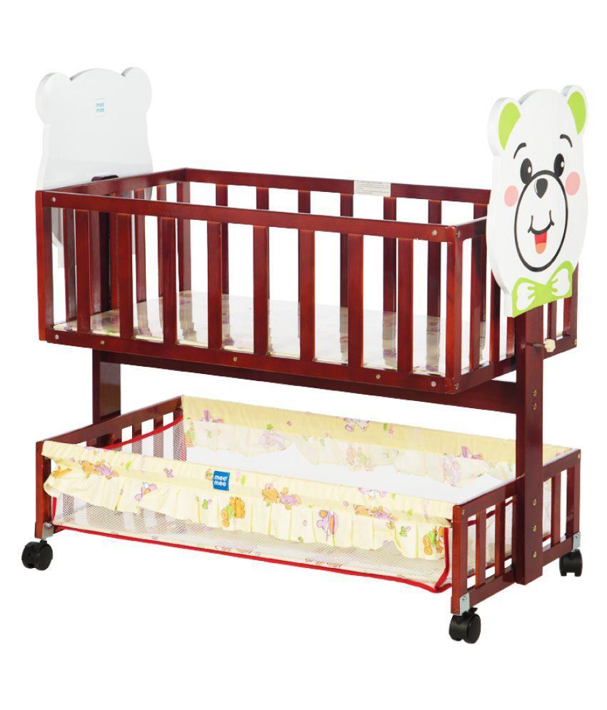 Mee Mee Baby Cradle (with Storage Basket, Brown)