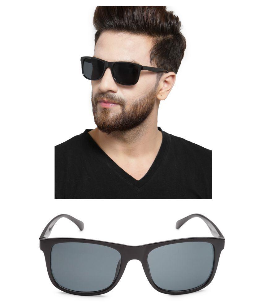 Get Glamr Black Wayfarer Sunglasses ( SG-UN-MT-078-8 )