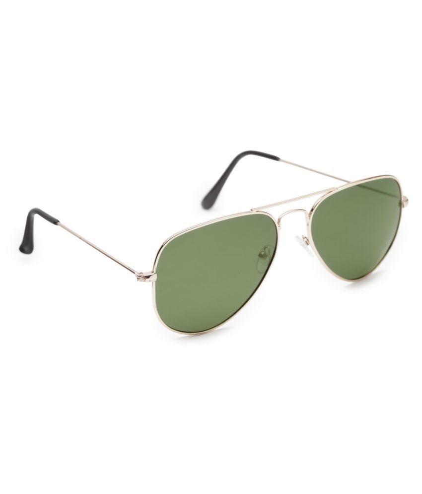 Get Glamr Green Aviator Sunglasses ( SG-UN-MT-053-8 )