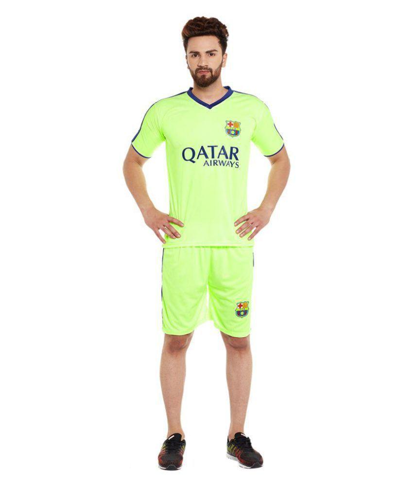 Sportigo Solid Men V neck Green, Blue T Shirt