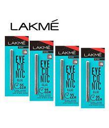 Lakme. Deep Black Eyeconic Kajal Pencil Pack Of 3 1.05 gm